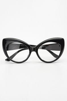 2247d309340 Rita Rounded Cat Eye Clear Glasses - Black Big Glasses