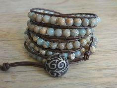 Beaded Wrap Bracelets, African Opal