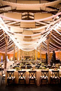 use streamers across the ceiling.. black and white alternating colors.. with a few twisted with both colors