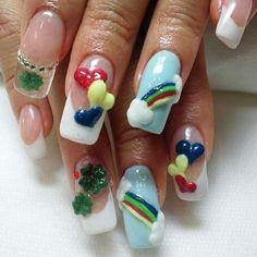 3D nail #nail #nails #nailart #heart #3Dart #gelnail #Padgram