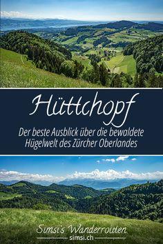 Der beste Ausblick über die bewaldete Hügelwelt des Zürcher Oberlandes Hiking, Mountains, Nature, Travel, Sweetie Belle, Naturaleza, Hill Walking, Forests, Walks