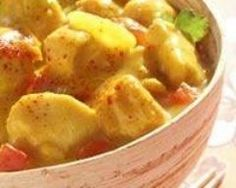 Poulet au curry simplissime et rapide Ingrédients