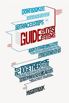 Guide to Lost Items on Behance