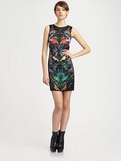 McQ Alexander McQueen - Bird-Print Sleeveless Dress
