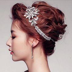 Attractive Rhinestones Wedding/Party Headpieces/Tiaras with Crystals – USD $ 17.99