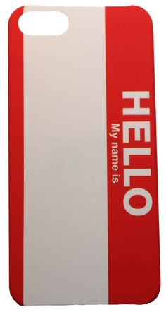 Name Tag Hello My Name is: US Elections iphone5 Hardcoverr Hart Case für iphone 5. Design aus Schweden by DEDICATED #iphone5 #hardcase #election #nametag