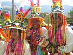 For Festive Tinku performances, women wear long embroidered long skirts and colorful tops, and wide belt (chumpi).  The female hat has color...