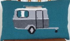 Classic Caravan Cushion Cover by Caroline Maxfield
