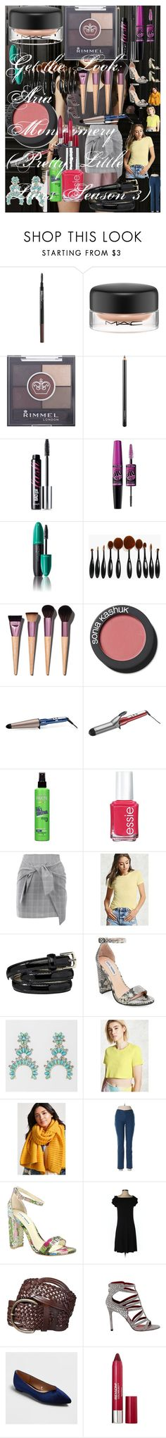 Get the Look: Aria Montgomery (Pretty Little Liars Season 3) by oroartye-1 on Polyvore featuring beauty, Sonia Kashuk, Revlon, Benefit, MAC Cosmetics, Maybelline, Rimmel, Conair, Boohoo and Essie