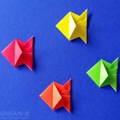 Those origami fishes are so easy and quick to fold that you will make them in…