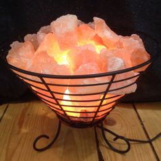 Home Depot Salt Lamp Alluring Himalayan Salt Lamp Basket  Himalayan Salt Himalayan And Feng Shui Decorating Inspiration