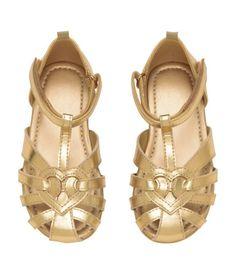 Sandalen met metallic finish | Goudkleurig | Kinderen | H&M NL