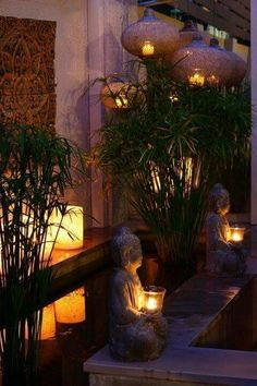 Landscape lighting ideas - Lighting plays a crucial role in elevating the view, whether it is indoor or outdoor. Landscape lighting ideas - Lighting plays a crucial role in elevating the view, whether it is indoor or outdoor. Balinese Garden, Bali Garden, Diy Garden, Herb Garden, Backyard Lighting, Outdoor Lighting, Lighting Ideas, Pathway Lighting, Lighting Design