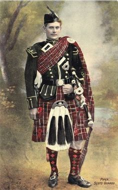 Scottish piper guard