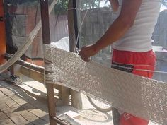 how to make a hammock from rope   Hamaca weaving