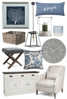 Where to get the best in Hamptons Style for your Home hamptons furniture and homewares australia mood board tlc interiors Hamptons Living Room, Hamptons Bedroom, Coastal Living Rooms, Hamptons House, The Hamptons, Hamptons Beach Houses, Hamptons Kitchen, Beach Cottage Style, Beach House Decor