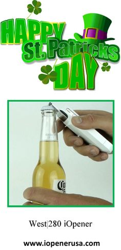 www.iopenerusa.com The sturdy iPhone case with beer bottle opener built in. Great for St. Patrick's Day parties!