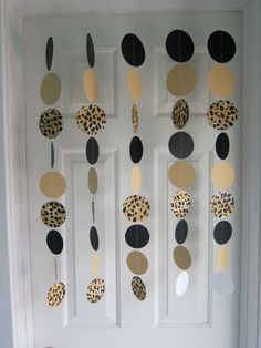 Leopard Garlands Safari Party Decorations Zoo by SuzyIsAnArtist, $22.00