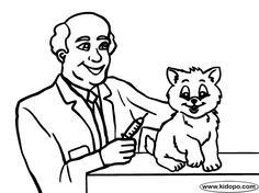 Veterinarian Coloring Page  Coloring An and Hope