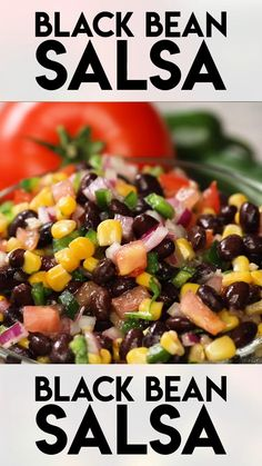 Breakfast Ideas Discover Black Bean Salsa Black Bean Salsa This black bean salsa dip is incredibly easy to make and packed full of amazing flavor with black beans corn tomato red onion and some jalapeños for a nice kick! Easy Casserole Recipes, Healthy Dinner Recipes, Mexican Food Recipes, Appetizer Recipes, Vegetarian Recipes, Cooking Recipes, Appetizers, Corn Bean Salsa, Black Bean Salsa