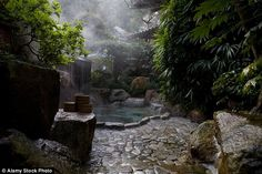 The Yunomine onsen - or hot spring - is visited from miles around by Japanes who queue to bathe naked