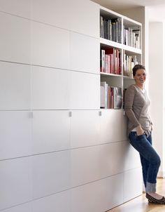mur rangements blanc bois scandinave bureau pinterest. Black Bedroom Furniture Sets. Home Design Ideas