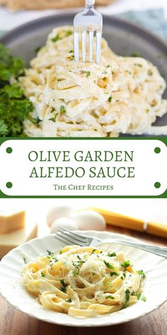 OLIVE GARDEN ALFEDO SAUCE This Olive Garden Alfredo sauce recipe comes straight from the restaurant itself! It takes just 15 minutes to make, and pairs perfectly with fettuccine. Chef Recipes, Copycat Recipes, Sauce Recipes, Pasta Recipes, Italian Recipes, Chicken Recipes, Dinner Recipes, Cooking Recipes, Healthy Recipes