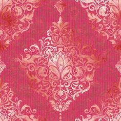 The Wallpaper Company 56 sq. ft. Chandelier Damask Cherry Wallpaper-WC1287296 at The Home Depot