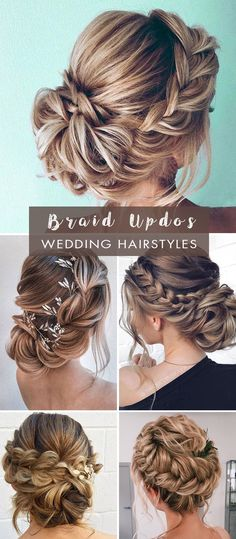 Wedding updos have been the top hairstyle that always looks flawless among brides of all ages worldwide. The great thing about an updo is its versatility-from bridal buns, chignons, braided, twisted to knotted updos,. Summer Wedding Hairstyles, Braided Hairstyles For Wedding, Bride Hairstyles, Bridesmaid Hairstyles, Bridesmaids Updos, Bridesmaid Hair Updo Braid, Updo Hairstyles Tutorials, Fishtail Braid Wedding, Wedding Braids