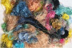 Sari Silk Fiber - Multi Colour