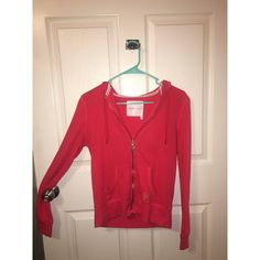 Pink Victoria's Secret jacket Pink Victoria's Secret zip-up hoodie jacket. Barely worn! In great condition! Victoria's Secret Jackets & Coats Utility Jackets