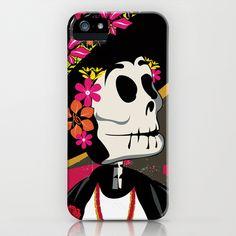 Dia de los Muertos Woman iPhone Case by HeyTrutt - $35.00
