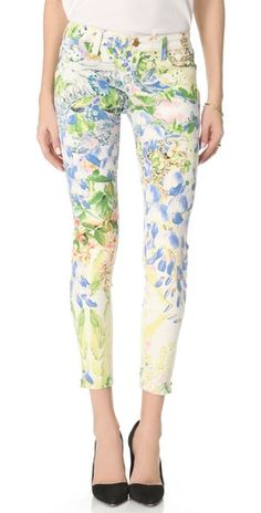 Genetic Denim James Floral Cigarette Jeans-not sure how flattering they would be..but I love these pants!