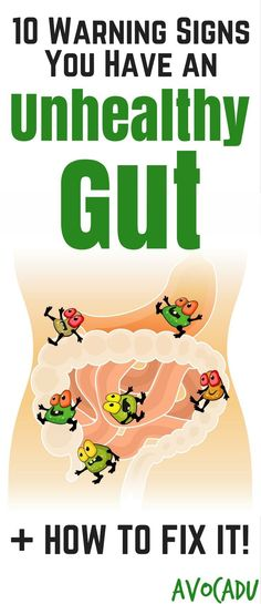 Heal Leaky Gut   How to Fix Leaky Gut to Lose Weight   Warning Signs of an Unhealthy Gut   http://avocadu.com/unhealthy-gut-warning-signs/
