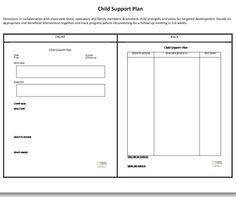 technical support plan template