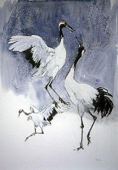 Cranes, delicate lines
