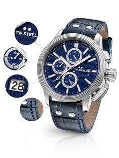 ⌚TW-Steel CE7008 Herrenuhr günstig @Timeshop24.de Steel, Breitling, Chronograph, Watches For Men, Leather, Accessories, Men's Watches, Steel Grades, Iron