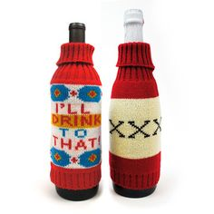 Knit Liquor Cozies Set Of 2, $21, now featured on Fab. (kitsch on the rocks)