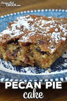Pecan Recipes, Sweet Recipes, Pecan Pie Cake, Pecan Pie Cupcakes, Just Desserts, Delicious Desserts, Cake Oven, Crunch Cake, Decadent Cakes