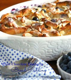 white chocolate blueberry bread pudding white chocolate blueberry ...