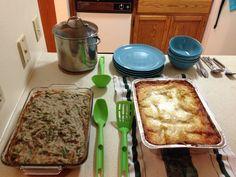 Gluten free pumpkin lasagna and gluten green vegan green bean casserole. Merry Christmas!
