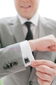 Batman cufflinks - Dade City Farm Wedding from Andi Mans Photography