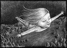 """""""At night, my Real Self sailed the skies on shining wings, playing among the stars, exploring the many lives she had already created in other dimensions..."""" Hiro Boga #DreamingInTheDark"""