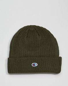 faa9f31313e Champion Beanie With Small Logo In Green - Green Champion