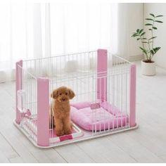 Dog Pet Pen Playpen CLS-960 Small - Pink w/Sliding Door + Removable Mesh Top
