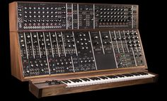 Moog System 55 modular synthesizer ~ reintroduced 2015 ~ 36 handcrafted modules and housed in 2 hand-finished solid walnut cabinets ~ can be equipped with a 960 Sequential Controller / sequencer