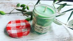 Upcycle your Bonne Maman jars into the cutest DIY candles.  Instagram: @la.sirene.aromatica