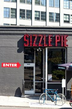Sizzle Pie / Downtown Portland Interior Renovation, Exterior  Signage Design / The Official Manufacturing Company