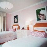 Modern Bedroom Design Ideas for Two Girls with Pink Walls