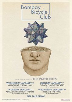 Gig Poster for Bombay Bicycle Club and The Paper Kites